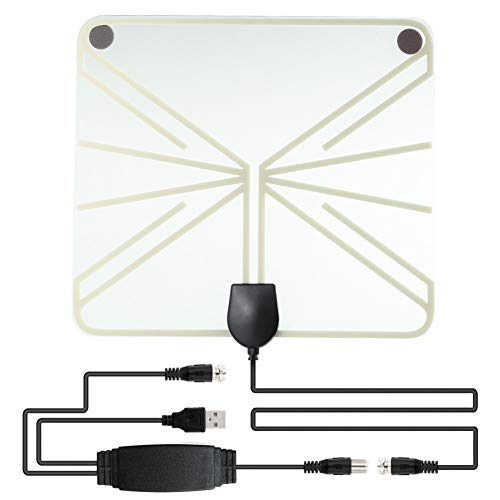 Amazon.com: daffodilblob Digital TV Antenna USB Indoor UHF/VHF Digital TV Antenna Signal 1080P 50 Miles Amplified HDTV Cable VHF(174-240Mhz), ...