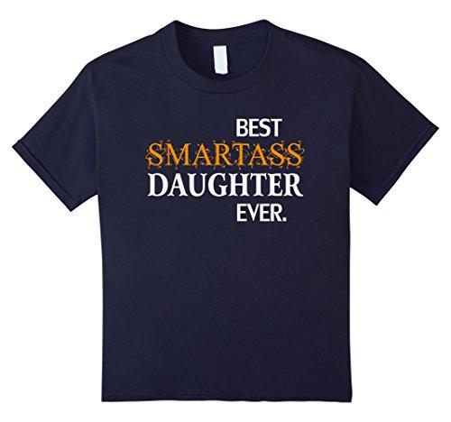 Kids Funny Best Smartass Daughter Ever T-Shirt Gift Halloween 6 Navy