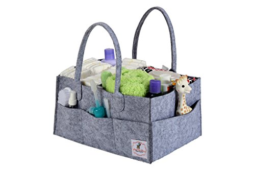 Stuff-Me-Baby-Portable-Diaper-Caddy-and-Baby-Wipes-Storage-Organizer-Bin-for-Home-Nursery-and-Car-Spacious-Design-14-x-10-x-7