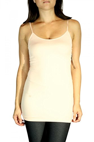 iCandy Long Casual Spaghetti Strap Tank TOP Plain Solid, used for sale  Delivered anywhere in USA