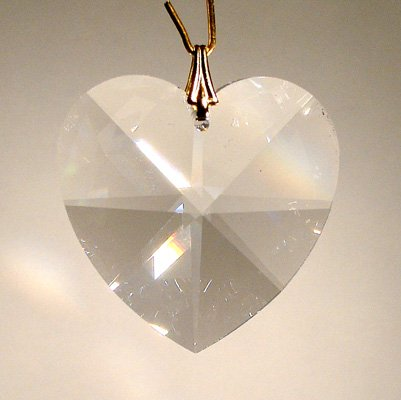 Swarovski 28mm Clear Crystal Faceted Heart Prism -