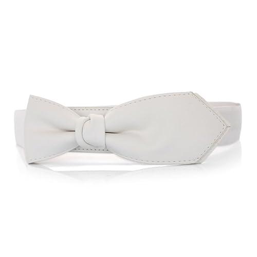 Primaverile ed estivi cintura Moda cintura Joker Cintura elastica-bianca