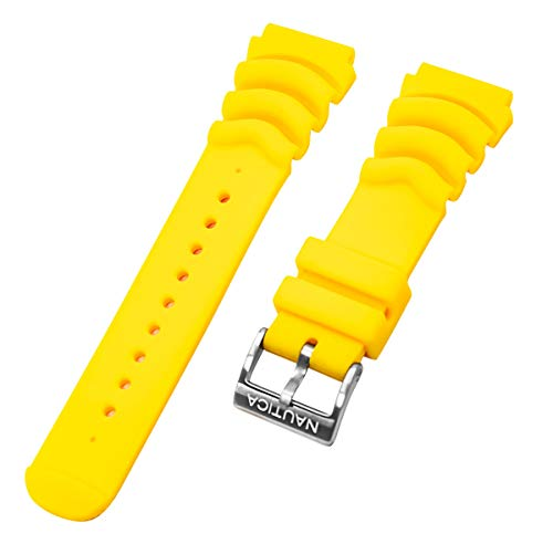 Watch Pulsar Yellow - Nautica Men's N18635G | A18635G Mega Pro Diver NMX 650 Replacement Yellow 22mm Diver's Watch Band