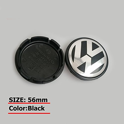 Hanway Brand New 4pcs 56mm Volkswagen Beetle, Golf, Jetta, Polo, R32 - 56MM Hubcap Wheel Center Caps VW Wheel Center Caps Sticker Volkswagens LOGO Badge Emblem