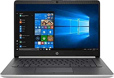 "Newest 2019 Flagship HP 14"" Laptop Intel Pentium Gold 4GB Ram 128GB SSD Ash Silver Keyboard Frame"