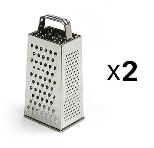 "4-Sided Grater 8.5"" S/S Satin (Pack of 2)"