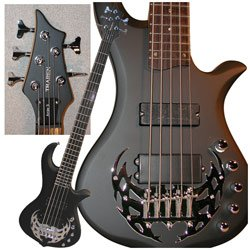 UPC 701963006695, Traben Basses Array 5 Series TRAA5SBK 5-String Bass Guitar, Black Satin