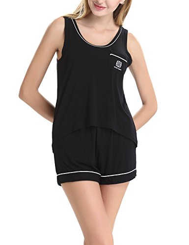 NORA TWIPS Women's Sleepwear Sleevelees Pajama Set With Short Pants (XS-XL)