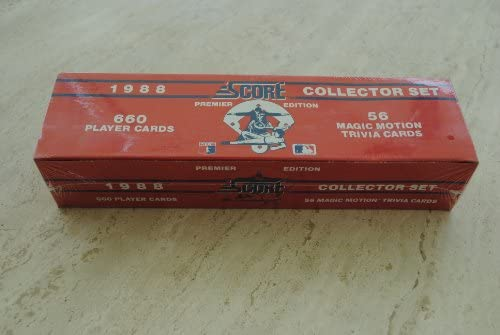 1988 Score Baseball Trading Card Factory Set At Amazons