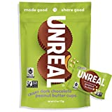 UNREAL Dark Chocolate Crispy Quinoa Peanut Butter Cups   Vegan, Gluten Free, Less Sugar   3 Bags -  AmazonUs/UNXA0