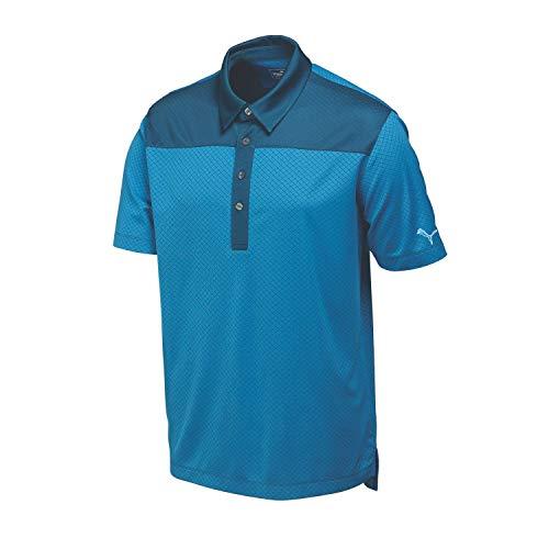 (PUMA Golf Men's Diamond Block Cresting Polo Shirt, Small, Cloisonne)