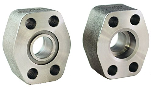 Hydraulic Flat (Dixon W61-24-24 Code 61 4 Bolt Hydraulic Flat Face Flange, Pipe Socket Weld Port and Pad, 1.5