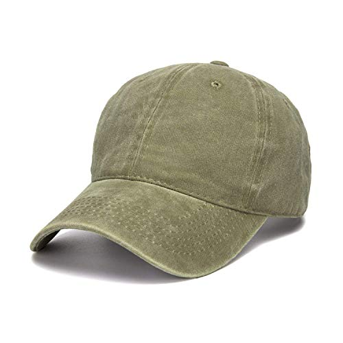 d Dyed Cotton Twill Low Profile Adjustable Baseball Cap (Army Green) ()