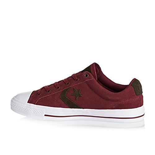 Calzado deportivo para hombre, color Rojo , marca CONVERSE, modelo Calzado Deportivo Para Hombre CONVERSE STAR PLAYER SUEDE OX Rojo Red