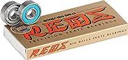 Bones Bearings - 8mm Bones Big Balls Reds Skate Rated Skateboard Bearings (8) Pack