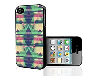 Mint, Pink and Yellow Tribal Pattern Hard Snap on Phone Case (iPhone 4/4s)