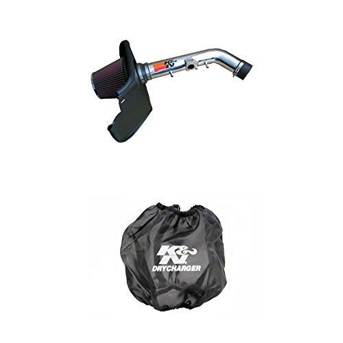 (K&N 77-9015KP Performance Air Intake System with Black Air Filter Wrap)