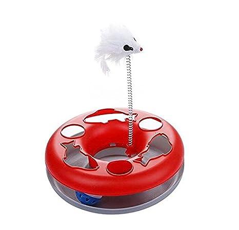 RFGTYBDD Delicado Pet Cat Moving Spring Mouse Tocadiscos Disco ...