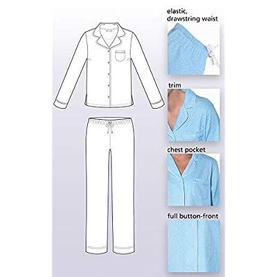 PajamaGram Pajama Set for Women - Cotton Jersey Pajamas Women at Women's Clothing store