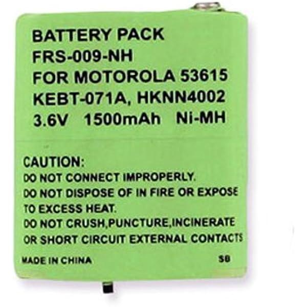replacement for Motorola 53615 Ni-MH 3.6V 1500mAh Motorola T5950 2-Way Radio Battery Rechargeable Battery