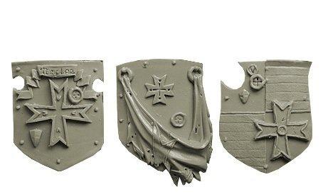 Spellcrow Templar Space Knights: Heavy Large Shields (Black Templar Space Marines)