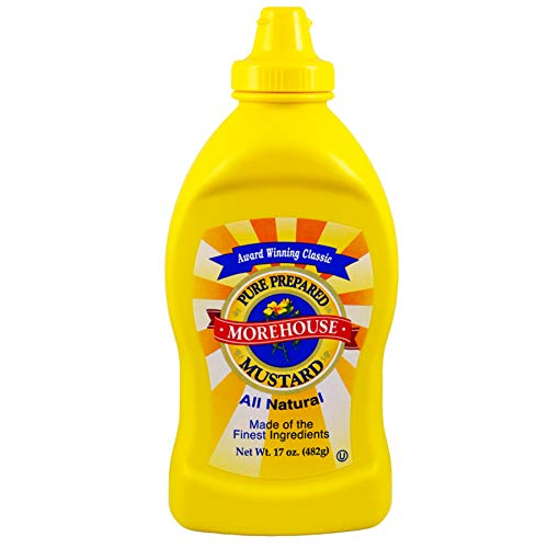 Prepared Mustard - (Pack of 12) Morehouse All Natural Mustard Yellow, 17oz