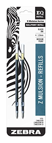 Zebra Z-Mulsion EQ-Refill, 1.0mm, Black Ink, 2-Count