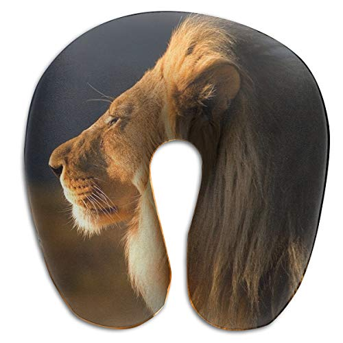 Laurel Neck Pillow Lion Photo Travel U-Shaped Pillow Soft Memory Neck Support for Train Airplane Sleeping (Lion Neck Pillow)