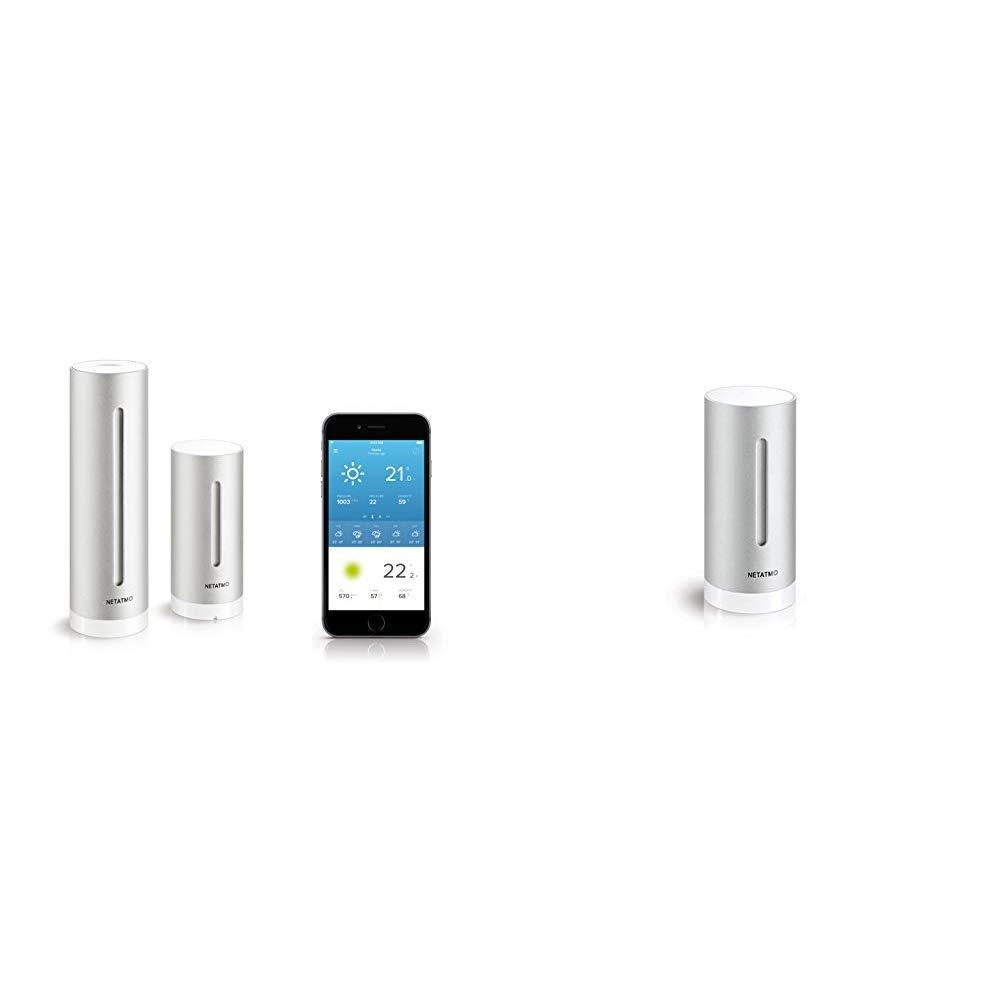 Pack Netatmo Stazione Meteo con Sensore Esterno Wireless + Modulo Aggiuntivo