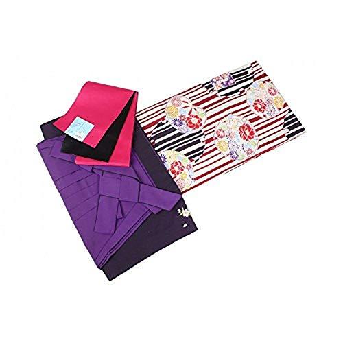 二尺袖 05-A-3SET 着物(Sサイズ) 選べる刺繍袴 おまかせ袴下帯 3点セット 卒業式に
