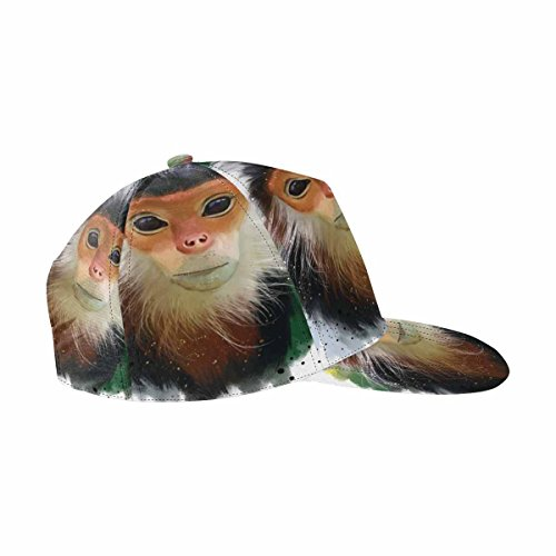 InterestPrint The Red Shanked Douc Langur Painting Athletic Baseball Fitted Cap