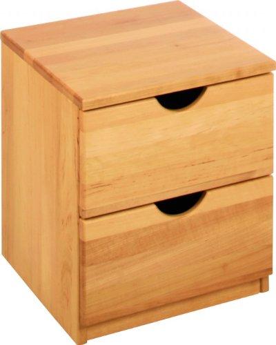 BioKinder 22127 Leon Rollcontainer Nachttisch aus Massivholz 46x40x38 cm