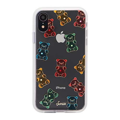 Sonix Gummy Bear (red, Yellow, Green) Cell Phone Case [Military Drop Test Certified] Rhinestone Embellished Protective Clear Case for Apple iPhone XR ()