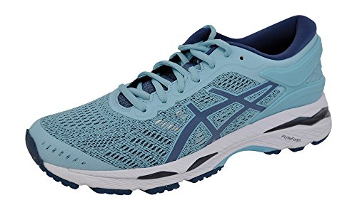 ASICS Women's Gel-Kayano 24 Running-Shoes Blue/Yellow, 9 B(M) US