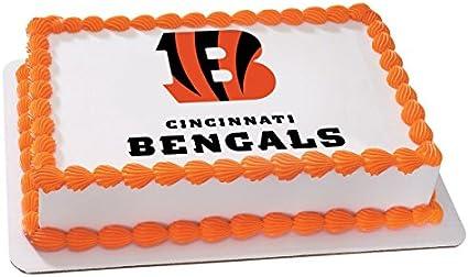 Amazing Cincinnati Bengals Edible Birthday Cake Image Topper Frosting Personalised Birthday Cards Paralily Jamesorg