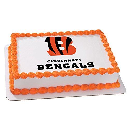 Cincinnati Bengals Sugar - NFL Cincinnati Bengals Licensed Edible Sheet Cake Topper #4680