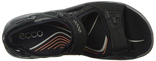 ECCO Men's Offroad Open Toe Sandals, Brown Black/Dark Shadow