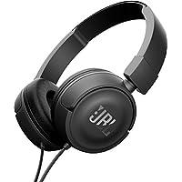 JBL T450 - Fone de ouvido on-ear com design leve, preto