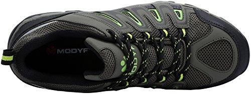 Modyf Mens Work Safety Shoes, Puntale Acciaio Punta Antiperforazione Calzature Industriali E Da Costruzione Verde Militare