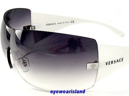 1f0a76a7bd29 New Authentic Versace Sunglasses White Frame 2055 1000/8G Gray Gradient  Lens Size:Unique-115: Amazon.co.uk: Clothing