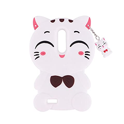 ZTE Zmax Pro Case, Vivid Lucky Cat Shaped Animal Fashion Design 3D Cute Cartoon Character Protective Skin Soft Rubber Silicone Case Back Cover for ZTE Zmax Pro / ZTE Z981 (6.0