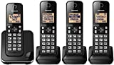 Panasonic KX-TGC384 Cordless Phone System with 4 Handsets - Black