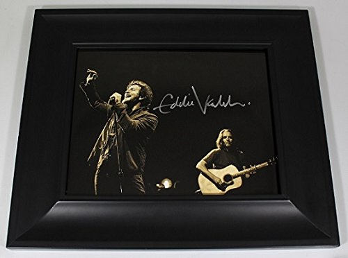 Pearl Jam Vitalogy Eddie Vedder Signed Autographed 8x10 Glossy Photo Gallery Framed - New Customer Icon