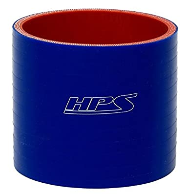 HPS 4.25' ID, 3' Length, Silicone Coupler Hose, High Temp 4-Ply Reinforced, 65 Psi Max. Pressure, 350F Max. Temperature, SC-8634-BLUE, Silicone, Blue 3 Length