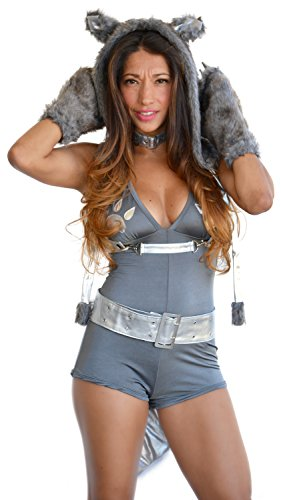 Sexitu Sexy Deluxe Silver Wolf Faux Fur Costume (Small)