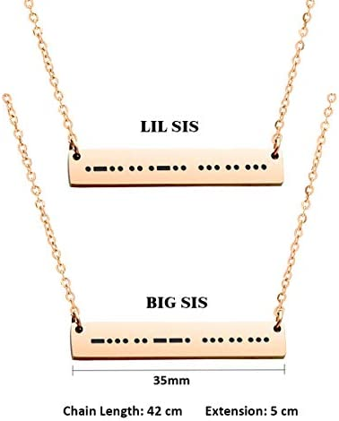 Bridesmaid Gift Mid Sis LiL Sis Necklace Silver Bar Necklace Necklaces for Sisters Sister Necklace Big Sis Sister Jewelry