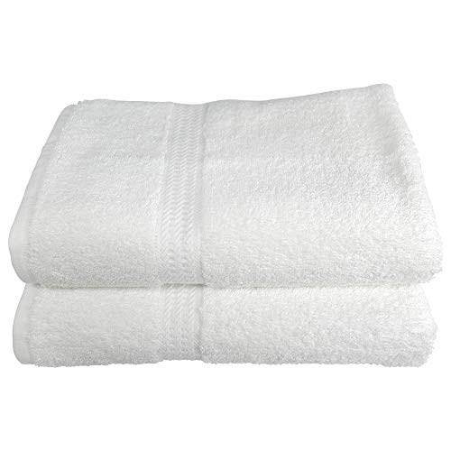 RC ROYAL CREST Resort Collection by Sigmatex – Lanier Textiles BT275014R 100% Cotton Hotel and Spa Quality Towel White 2 Pack (Bath Towel 27 x 50) ()