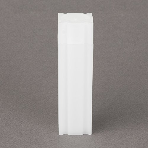 (5) Coinsafe Brand Square White Plastic (Dime) Size Coin Storage Tube Holders Model: Office Supply Product Store