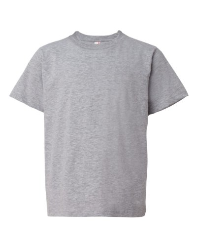 picture of Anvil 990B Youth Ringspun Cotton Fashion Fit T-Shirt - Grey - X-Small