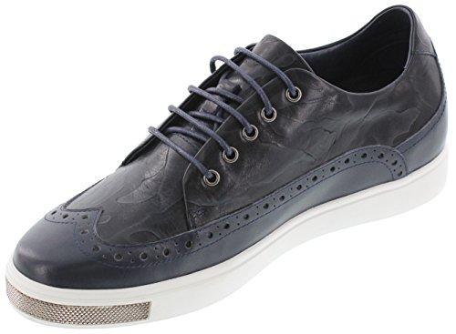 Toto D26011-2.4 Pouces Taller - Hauteur Augmentant Chaussures Dascenseur - Bleu Marine Chaussures De Sport Légères